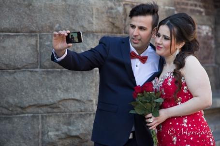 Även brudparet kan fotografera sig själva