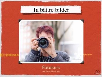 Bara genom att veta små detaljer höjer du nivån på dina bilder, lär av fotograf Maria Berg